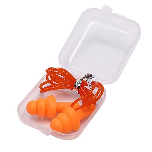 Heng 2 stks waterdichte zachte siliconen snoer oordopjes oren beschermer herbruikbare gehoorbescherming ruisonderdrukking oordoppen oorbeschermer, OG