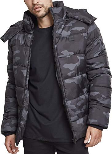 Urban Classics Herren Hooded Camo Puffer Jacket Jacke, Mehrfarbig (Darkcamo 00707), L