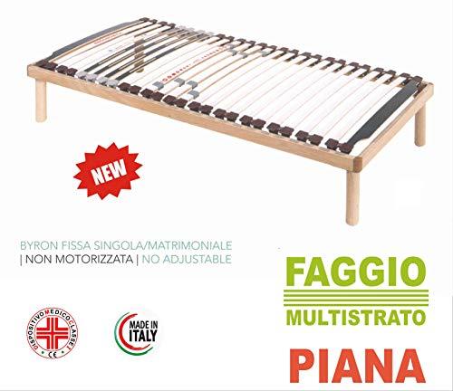 Evodreams bedframe Piana Byron beukenframe en lattenbodem van meerlaags beukenhout, gemaakt in Italië 120 x 190