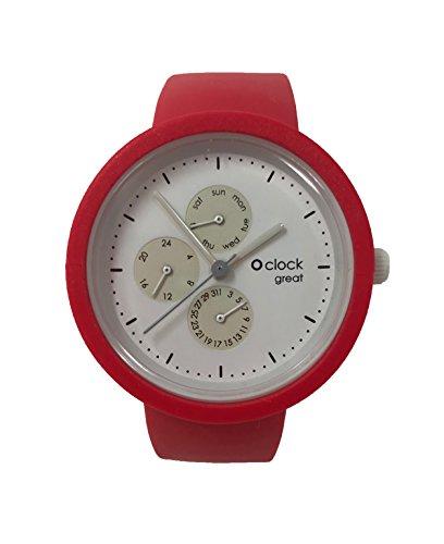 O Clock Great Cinturino Amaranto + Meccanismo O Great Datario Bianco (M)