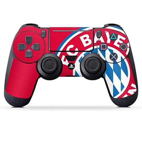 DeinDesign Skin kompatibel mit Sony Playstation 4 PS4 Pro Controller Folie Sticker FC Bayern München Offizielles Lizenzprodukt FCB