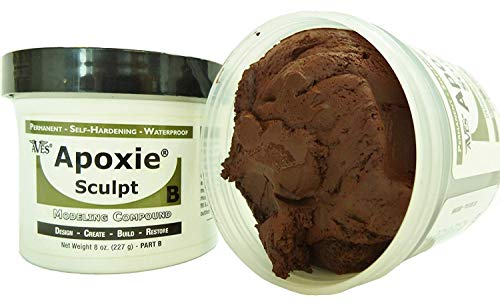 Apoxie Sculpt - 2 Part Modeling Compound (A & B) - 1 Pound, Brown