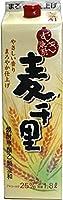 〔甲乙混和〕 25度 麦千里 1.8Lパック 6本 (1800ml)(麦焼酎)(メイリ・めいり) 明利酒類