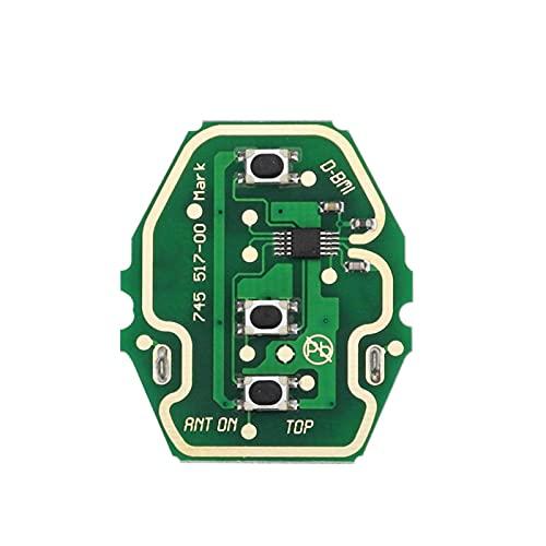 CHAOCHAO ZHANGERDIAN EWS Tecla remota del Coche SYTEM Apto para BMW E38 E39 E46 X3 X5 Z3 Z4 1/3/5/7 Serie 315/433 ID44 Transmisor de Entrada sin Llave de viruta (Color : One Board noChip)
