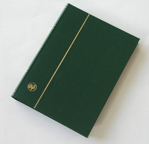 GOLDHAHN-Luxus-60 Schwarze Seiten A4 Briefmarkenalbum Einsteckbuch grüner Einband