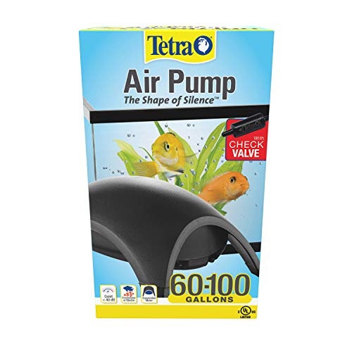 Tetra 77850 Whisper Air Pump, for Aquariums, Quiet, Powerful Airflow, 60 to 100-Gallons