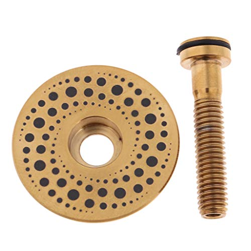 Sharplace 1 Unidad de Tornillo y Tapa para Bicicletas Hecho de Aleación de Titanio - Gold-Milky Way