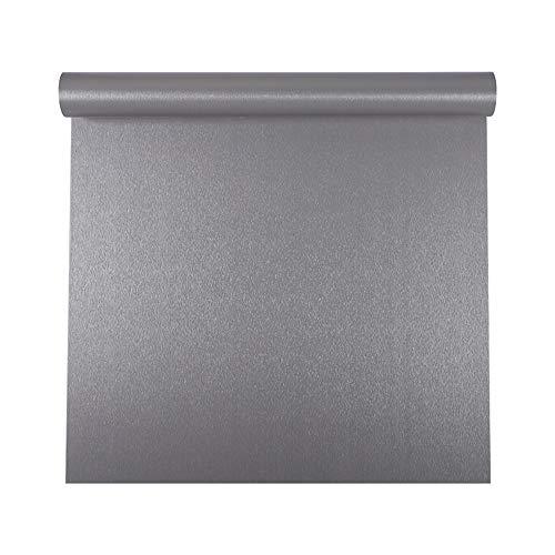 Autoadhesivo Gris cepillado Metal Acero inoxidable Película de vinilo Papel tapiz para lavavajillas Nevera Refrigerador Estufa Electrodomésticos Muebles Etiqueta de la pared Papel extraíble 40CMX3M