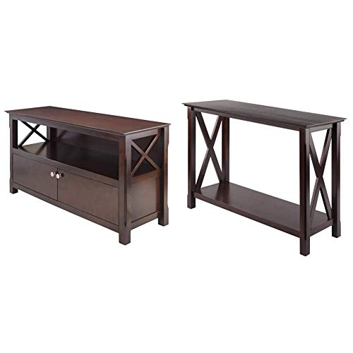 Winsome Xola Media/Entertainment, 44, Cappuccino & 40445 Wood Xola Occasional Table, Cappuccino Product in Inches (L x W x H): 45.0 x 15.98 x 30.0