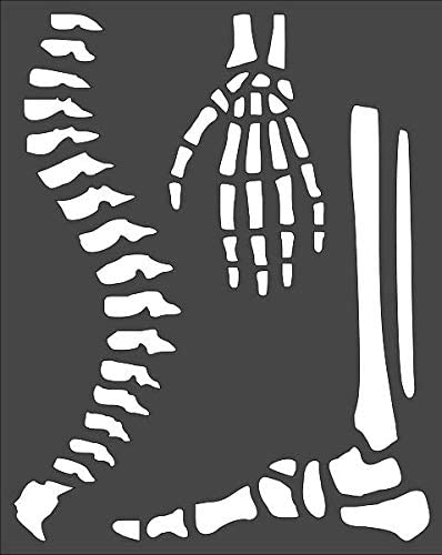 Cheap SALE Start 1- 8x10 inch Custom Cut Stencil and Arts Skeleton Parts PE-64 Japan Maker New
