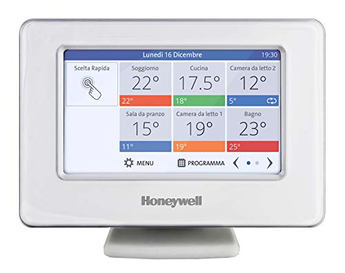 Honeywell Home THR99C3100 evohome Termostato Wi-Fi Smart, Utilizzabile con App, Compatibile con, Google Home e IFTTT, Bianco (1 Pezzo)