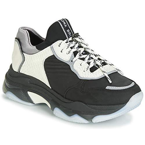 Bronx Baisley Zapatillas Moda Mujeres Negro/Blanco - 37 - Zapatillas Bajas Shoes
