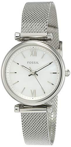 Fossil Women's Carlie Mini Quartz Mesh Three-Hand Watch, Color: Silver (Model: ES4432)
