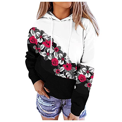 Women Graphic Pullover Hoodies, Fashion Plus Size Y2K Aesthetic Sweatshirts Oversize Long Sleeve Juniors Blouse Tops