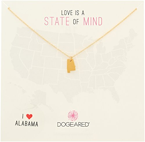 Dogeared State of Mind Alabama Gold-Plated Sterling Silver Chain Necklace