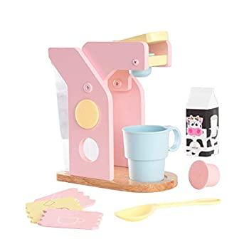 KidKraft Children s Pastel Coffee Set - Role Play Toys for The Kitchen Play Kitchen Accessories