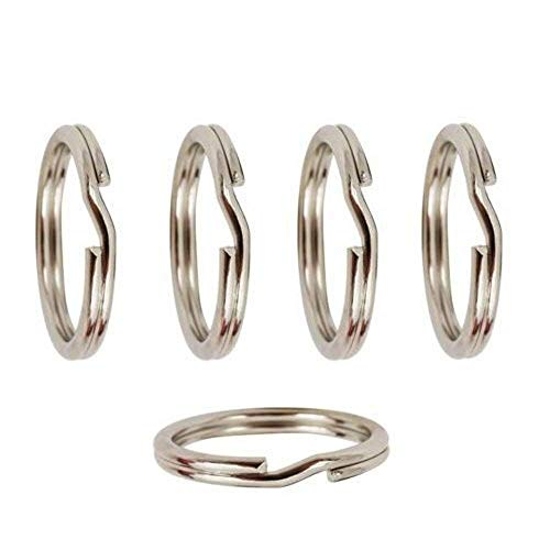 5 x Solid Sterling Silver Split Rings For Adding Charms To Bracelets ~ 7mm