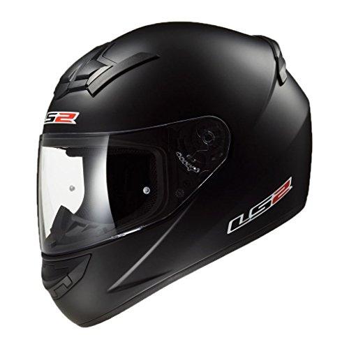LS2 LS2 255542 Full Face Helmet (Matt Black, Large)