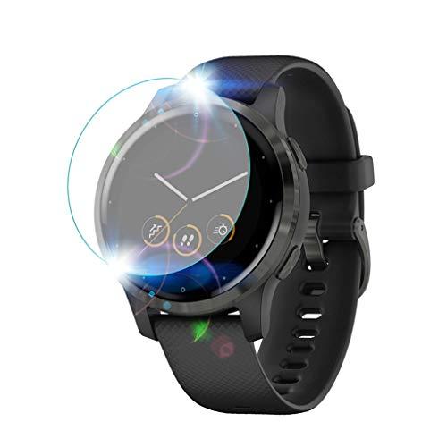 [3 Pack] Compatible avec Garmin Vivoactive 4S Protection Protecteur D'écran en Verre Trempé - Dureté de 9 H, Une Couverture complète, Bubble Gratuit, Anti-Rayures pour Garmin Vivoactive 4S
