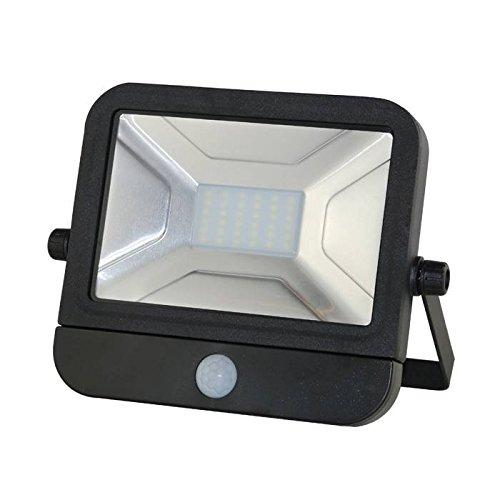 VBLED® 30 Watt Fluter/LED-Strahler mit Bewegungsmelder - Kaltweiß 6000K, 230 Volt, 2100 Lumen, IP65 Wassgeschützt, Flach