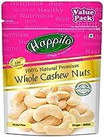 Happilo 100% Natural Premium Whole Cashews Value Pack Pouch, 500 g