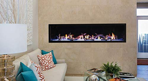 Best Deals! Empire Comfort Systems 72 Boulevard DV Linear NG Fireplace w/Black Liner and Copper Gla...