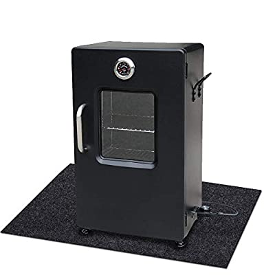 Under the Electric Smoker Mat,Flame Retardant Felt Fabric,Absorbing Oil Pads,Reusable Durable Washable Floor Mat Protect Decks ,Patios, Grease Splatters(Electric Smoker Mat :37.4inches x 24inches)