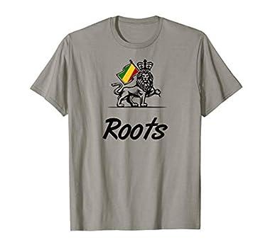Roots Reggae ist beliebt in Zion Kingstone und Jamaika. Es Wird von Rastas gehört und Reggae Fans auf Festivals Roots für Männer und Frauen. Retro Reggae Geschenk mit einem Löwen und der Reggae Flagge Klassisch geschnitten, doppelt genähter Saum.