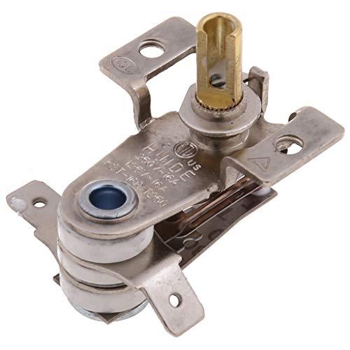 Buwei AC 250V 16A Interruptor de Temperatura Ajustable de 90 Grados Celsius termostato de calefacción bimetálico KDT-200