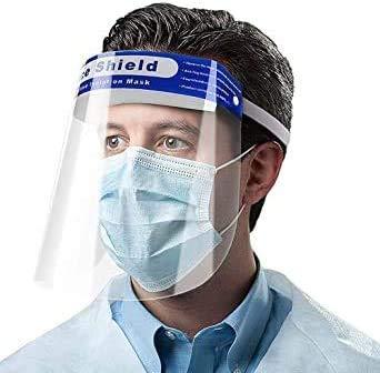 12 x Digital Tec säkerhet heltäckande ansiktsskydd justerbar heltäckande skyddskeps med skyddande klar film elastiskt band och komfort svamp vindtät dammtät anti-stänk ansiktsskydd för kvinnor män