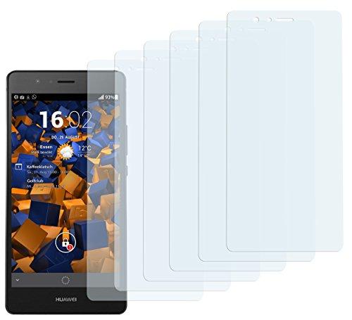mumbi Schutzfolie kompatibel mit Huawei P9 Lite Folie klar, Bildschirmschutzfolie (6X)