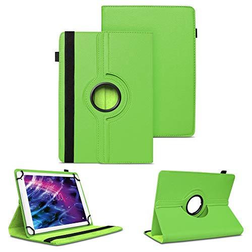 NAUC Tablet Schutzhülle für Medion Lifetab P10612 P10610 P10603 P10606 P10602 X10605 X10607 X10311 P9702 X10302 P10400 P10356 Hülle Tasche 360° Drehbar Case, Farben:Grün