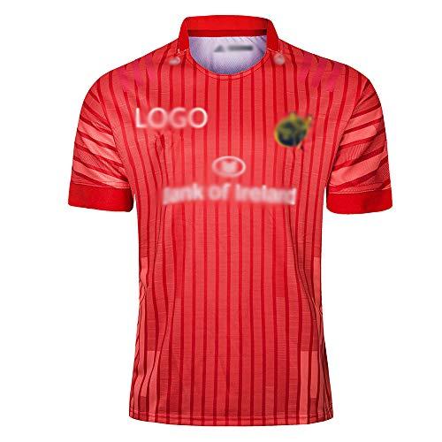 HYQ 2019 Rugby-Trikots, Münster Stadthütter, Weg, Rundhals, Kurze Ärmeln, Rugby-Anhänger, Trainingsuniform, Sport T-Shirts,Home Court,XXL