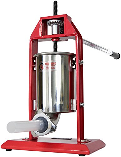 VIVO Sausage Stuffer Vertical Stainless Steel 3L/7lbs 5-7 Pound Meat Filler (STUFR-V003)