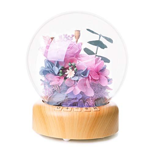 LEYOUDIAN Fleur éternelle Président Bluetooth Musique Bal Night Light Romantique Valentine Cadeau (Size : B)