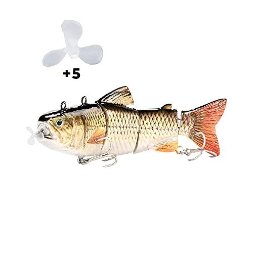 Elektrischer Fischköder   Angelköder elektrisch   Lebend-köder Angeln   Kunstköder für Forelle, Hecht, Zander & andere große Fische lebend   Angelköder Set   Angel Köder - elektrischer Fisch (Set 1)