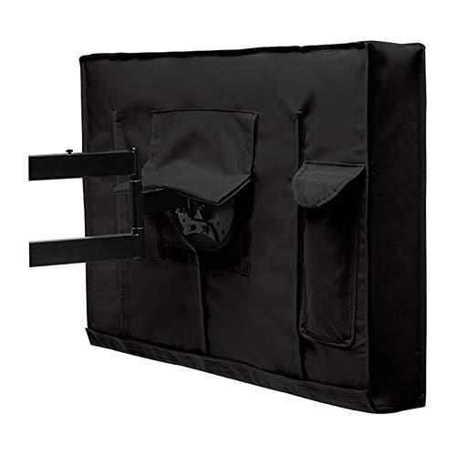 Funda Tv Exterior Al aire libre TV Cubierta Con Negro pantalla de TV agua y al polvo cubre 24 '32' 38' 42 '48' 52 '55' 60' TV cubierta exterior ( Color : Black , Specification : 46 48inch 29x45.5 )