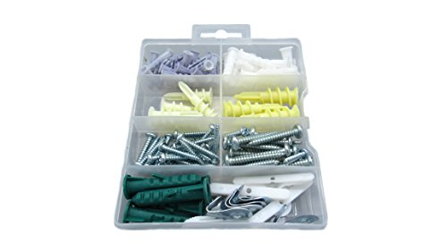 Drywall & Hollow Wall Anchor Assortment Kit Organizer 112 Pieces - Plastic Anchors, Molly Bolts, Screws, Hooks, Toggles - Essential for Hanging, Wall Mounting and Home Improvement- Nick The Fixer