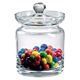 Badash Aladdin Crystal Candy or Cookie Jar - 5.5' Tall Glass Jar with Lid Keeps Treats Fresh at Home or the Office - Elegant Mouth-Blown Lead-Free Crystal