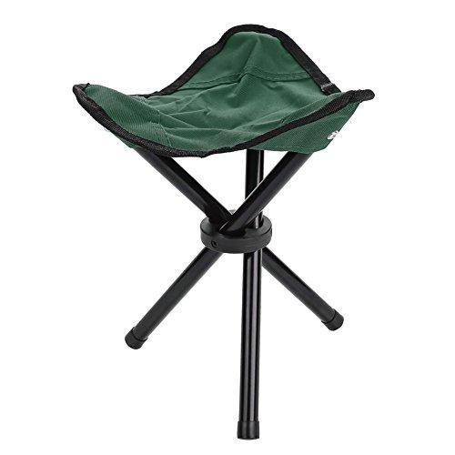 釣り三脚椅子 釣りチェア アウトドア 折りたたみ椅子 軽量 コンパクト 携帯便利 耐荷重100kg 安定性 キャンプ/BBQ//ハイキング/旅行/家事/園芸用 (S-緑)