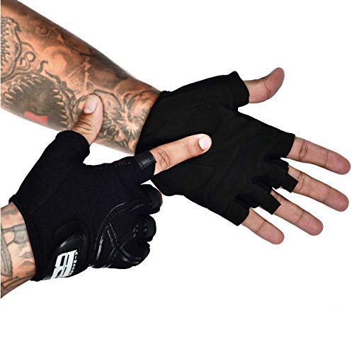 Cycling Gloves - Mens Cycling Gloves - Bike Gloves for Men - Biking Gloves for Women - Bicycle Gloves for Men - Bicycling Gloves - Weight Lifting Gloves - Youth Mountain Bike Gloves - Gym Gloves