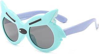 TOORY mural - Gafas de sol con protección solar para exteriores Gafas de sol para niños Gafas de sol con dibujos animados de lobo para niños Gafas de sol con personalidad para niños y niñas-3