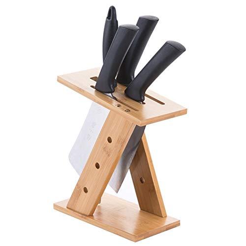 Porte-Couteaux Vide Couteau de cuisine Bloc, Porte-couteau en bambou Organisateur, Rack for la cuisine Couverts Accessoires de rangement Blocs couteaux