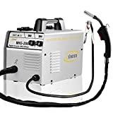 Welder Mig Welding Machine 200Amp 220V Flux Core Wire No Gas Welder Automatic Feed Easy Weld Ideal for Beginners Professional Welder