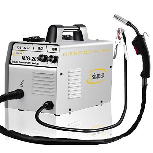 MIG Schweißgerät mit Flussmittelkerndraht, 140 A, 220 V, kein Gasschweißgerät, automatisches Einspeisen, einfaches Schweißen, ideal für Anfänger, professionelle...