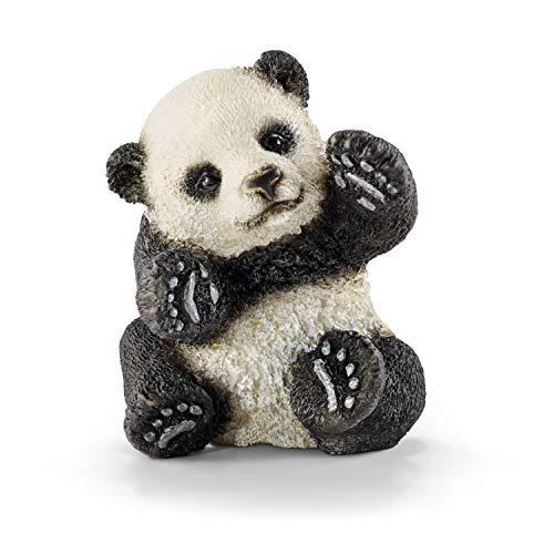 Schleich 14734 - Panda Junges, spielend, Tier Spielfigur, schwarz/weiß