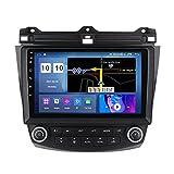 W-bgzsj Android 10 Coche Radio GPS Navegación para Honda Accord 7 2003-2007 Player multimidia USB WiFi FM Espejo Enlace Bluetooth Manos Libres SWC + Cámara de Respaldo, M300S (Color : M100s)