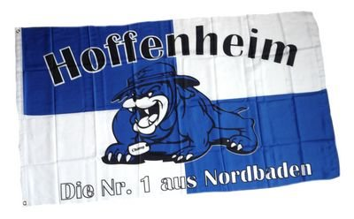 Fahne / Flagge Hoffenheim Bulldogge Fan NEU 90 x 150 cm