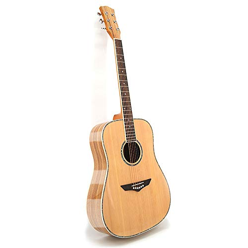 ZIEO Gitarre Anfänger Full Size Akustikgitarre Handgemachte Massivholz-Gitarre Akustikgitarre Kits (Color : Natural, Size : 41 inches)