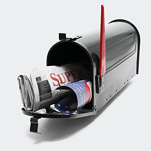 Buzón US Mail diseño americano Negro decorativo Correo Postal Soporte de pared pie
